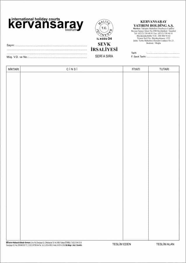 Kervansaray Bodrum Sevk İrsaliyesi 14.11.2016 e1552123315148 - Büyükçekmece Anlaşmalı Matbaa