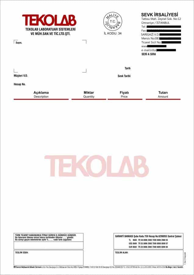 Teknolab Sevk İrsaliyesi e1552123382124 - Çekmeköy Anlaşmalı Matbaa