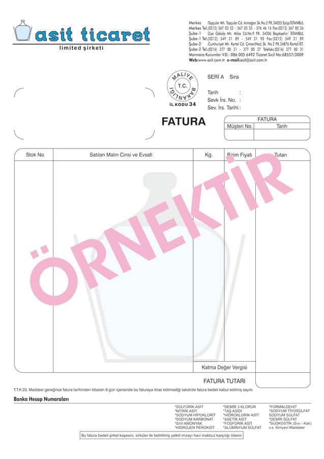 fatura basimi 10 - Zeytinburnu Fatura Basımı