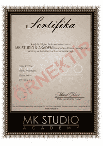 MK STUDIO ACADEMY SERTİFİKA 212x300 - MK STUDIO ACADEMY SERTİFİKA