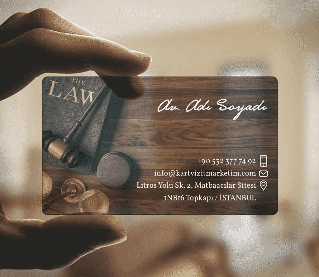 avukat ahşap desenli şeffaf kartvizit 1024x890 - Şeffaf Kartvizit